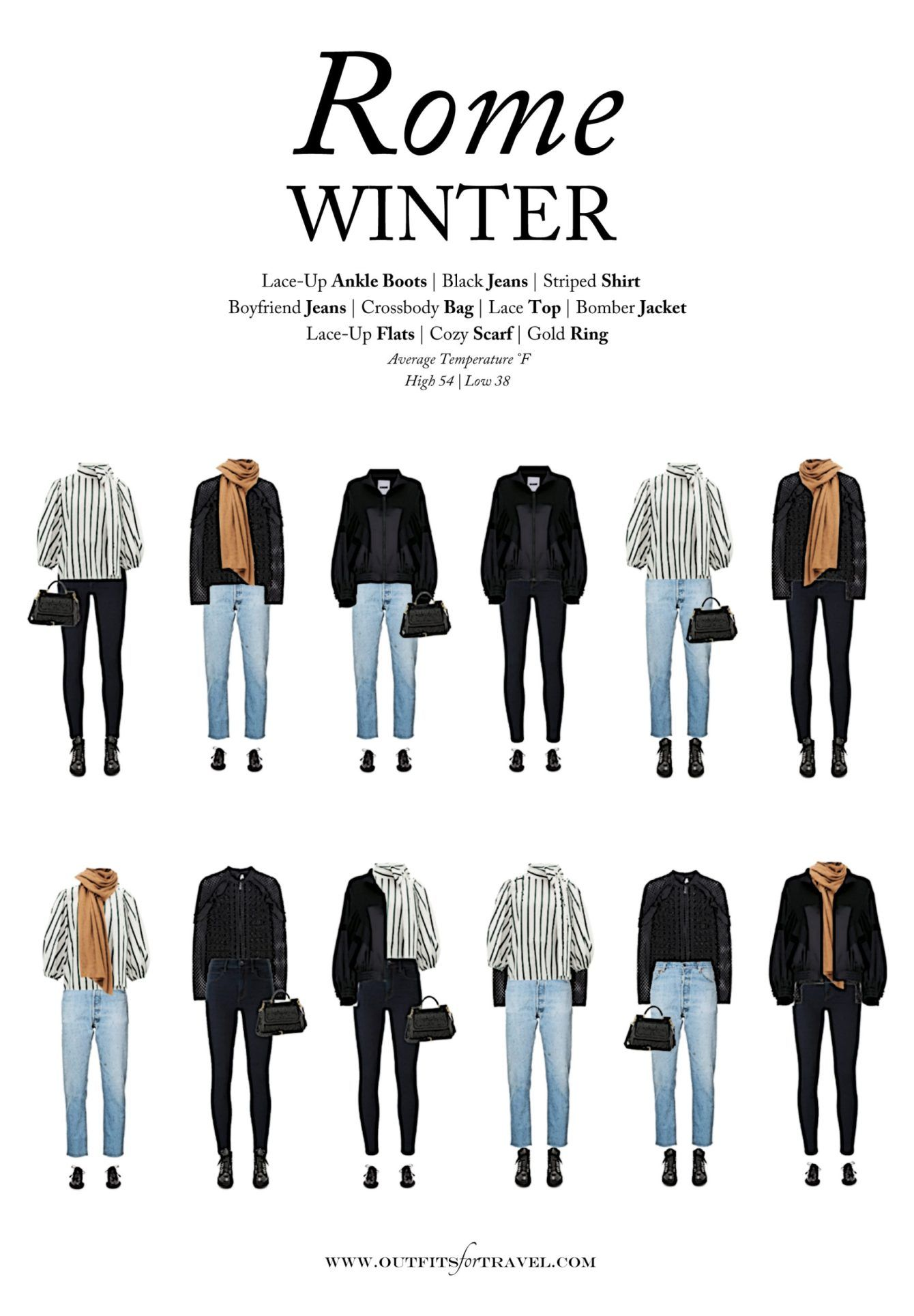 What to Wear to Rome in the Winter - Outfits For T