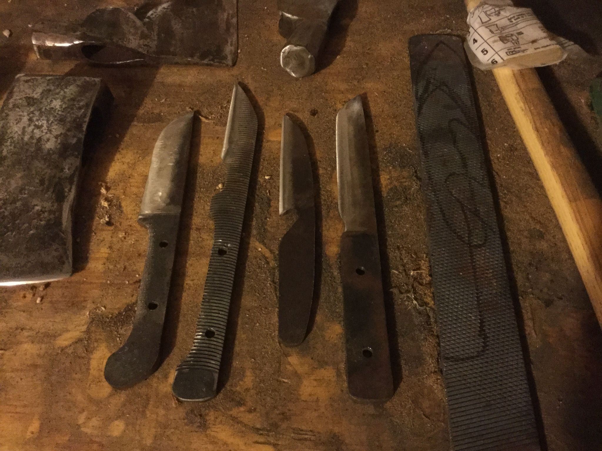 File Knife Blanks Made From Old Files Ready For Tempering Knife Knife Making Tools