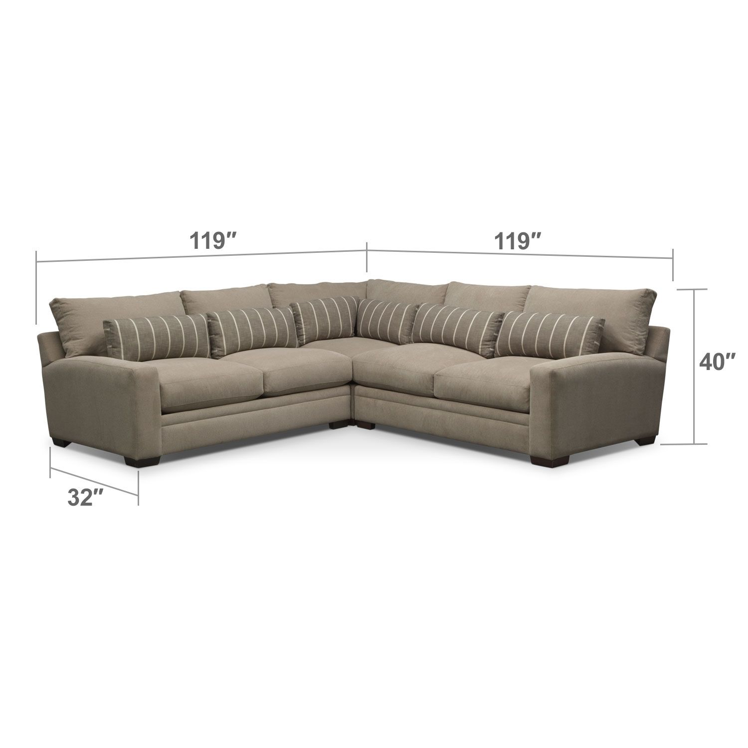 Ventura 3 Pc Sectional Furniture Cheap Furniture Stores Value City Furniture