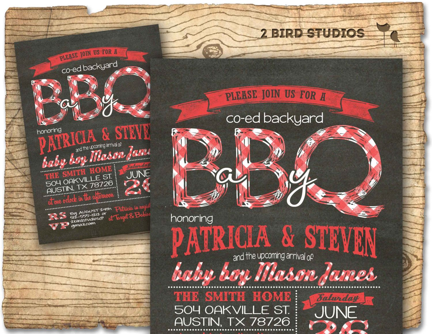 baby shower bbq invitation templates%0A Baby q baby shower invitation  BBQ baby shower coed couples baby shower  invite  DIY