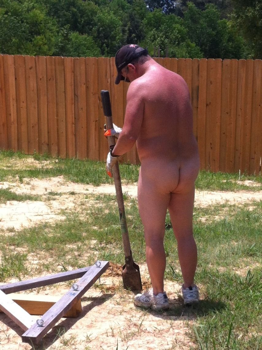 from Gage male nude yard work