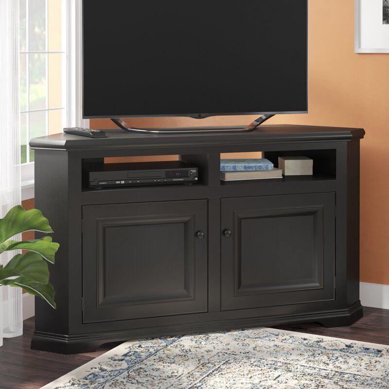 Wentzel Solid Wood Corner For Tvs Up To 65 Wood Corner Tv Stand Corner Tv Stands Tv Stand Solid wood corner tv stand