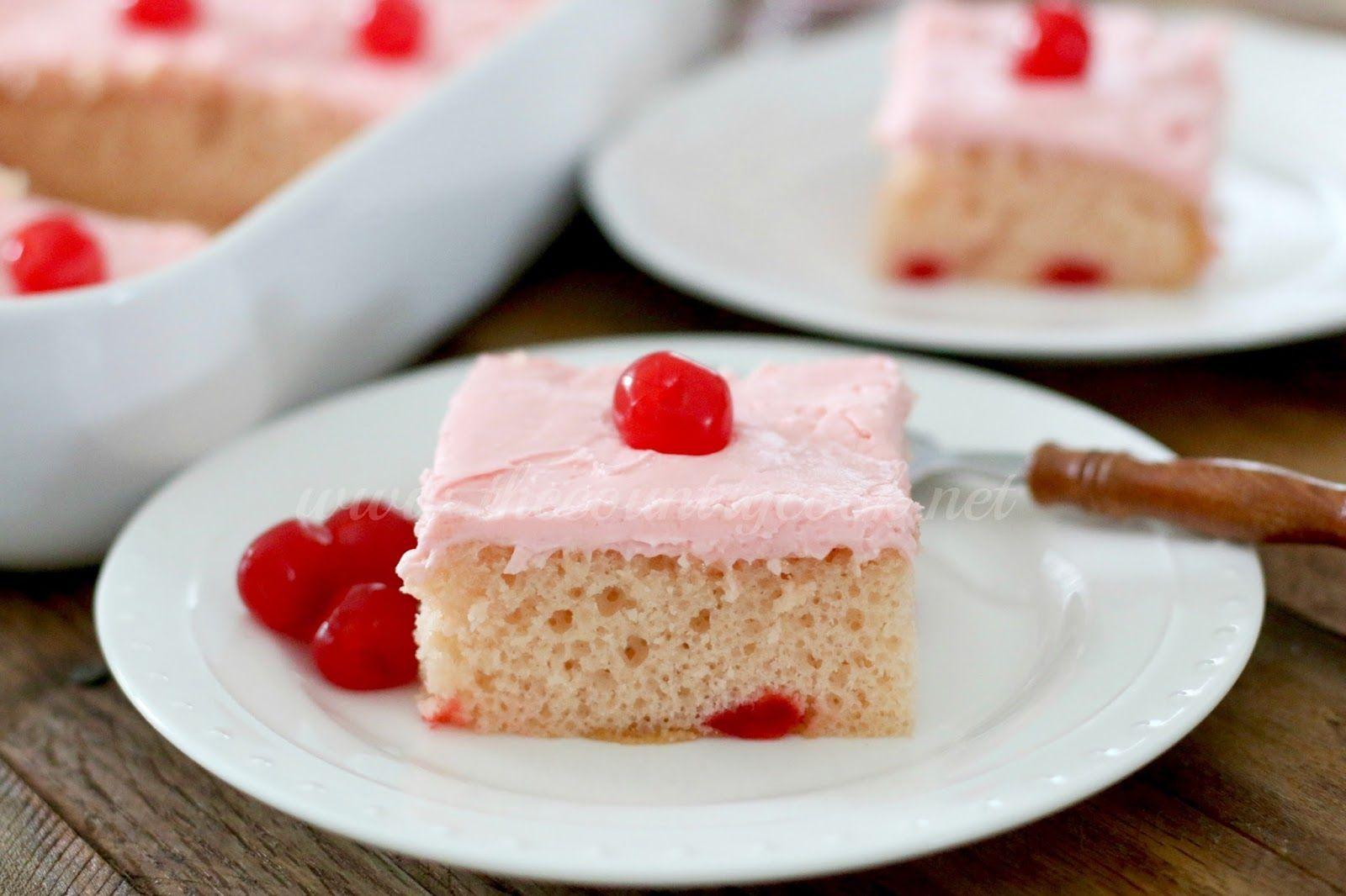 The Country Cook: Maraschino Cherry Cake