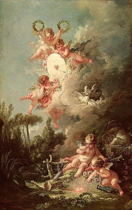 Cupids Target Print By Francois Boucher