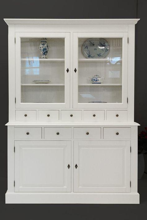 Küchenbuffet aus Weichholz in weiß im Landhausstil Schränke - wohnzimmer landhausstil weiß