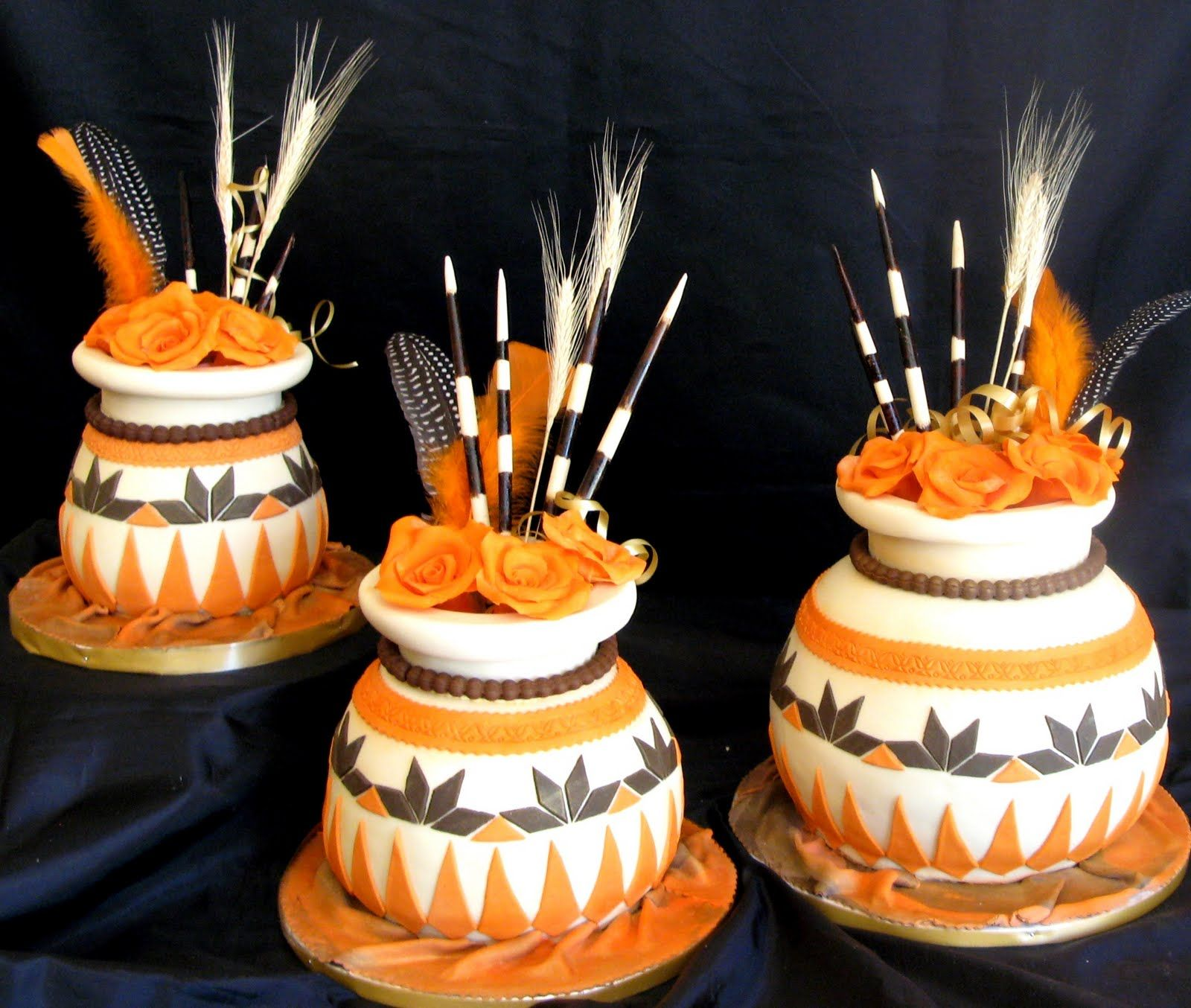 Xhosa wedding decor ideas  African Wedding Cakes dilshil For more great ideas and