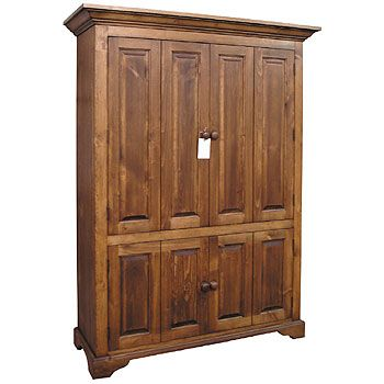 Flat Screen Tv Armoire With Bifold Doors, Storage For Components, Wide  Screen Tv.