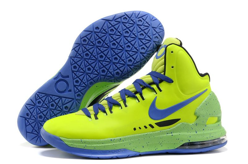 Nike Air Jordans- Nike Zoom KD V Neon Green/Purple Shoes