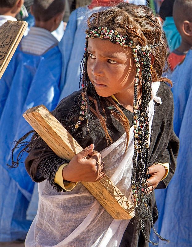 Africa: Tribal children at a Koranic school, Southern Algeria