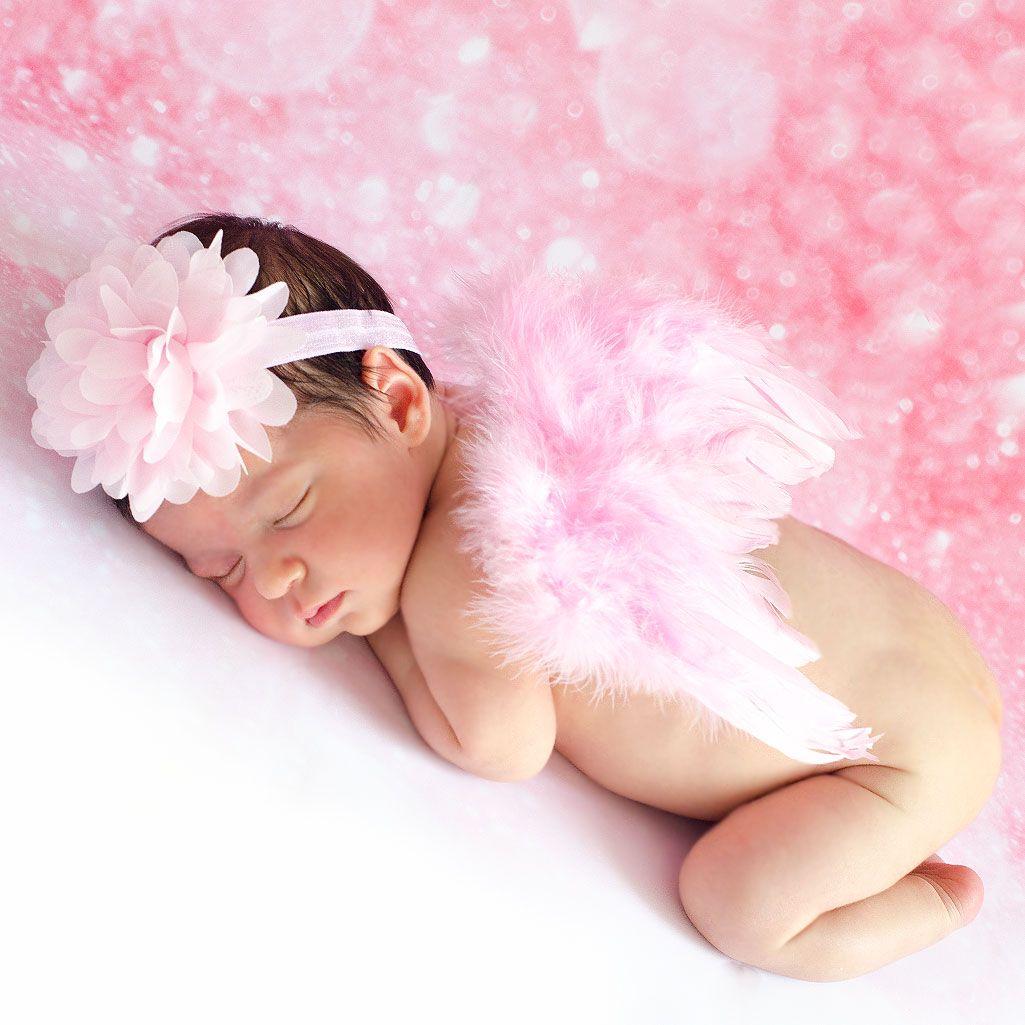 Disfraz para bebés. Disfraz de ángel con alas rosas. Sesiones de ...