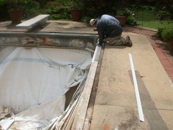 Vinyl Pool Repair Pool Renovation Services Upstate Sc Vinyl Pool Pool Repair