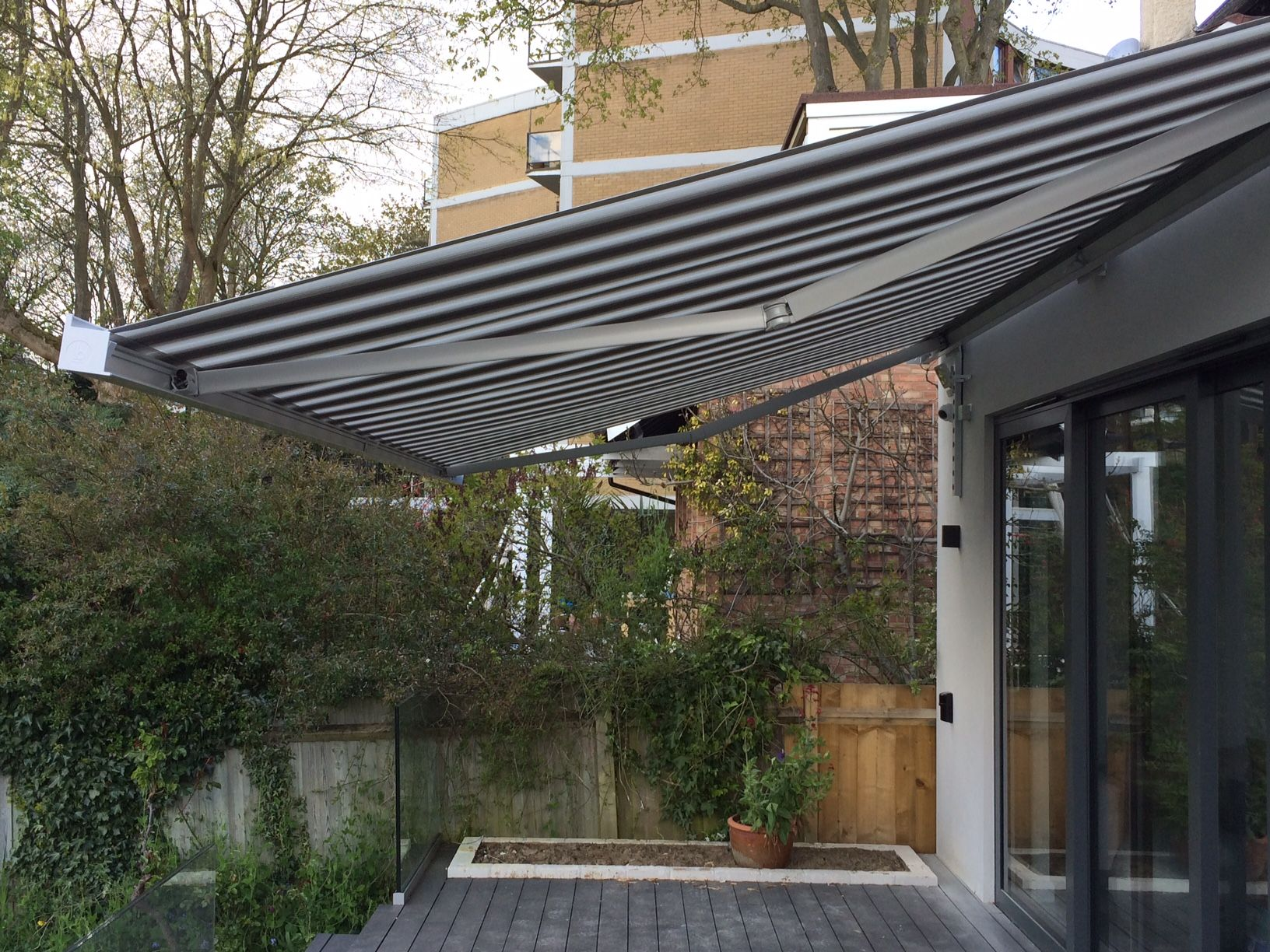 Patio Awning Installation in Hampstead Heath, London. The ...