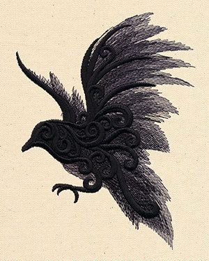 Dark+Raven+Embroidered+Flour+Sack+by+EmbroideryEverywhere+on+Etsy,+$14.99