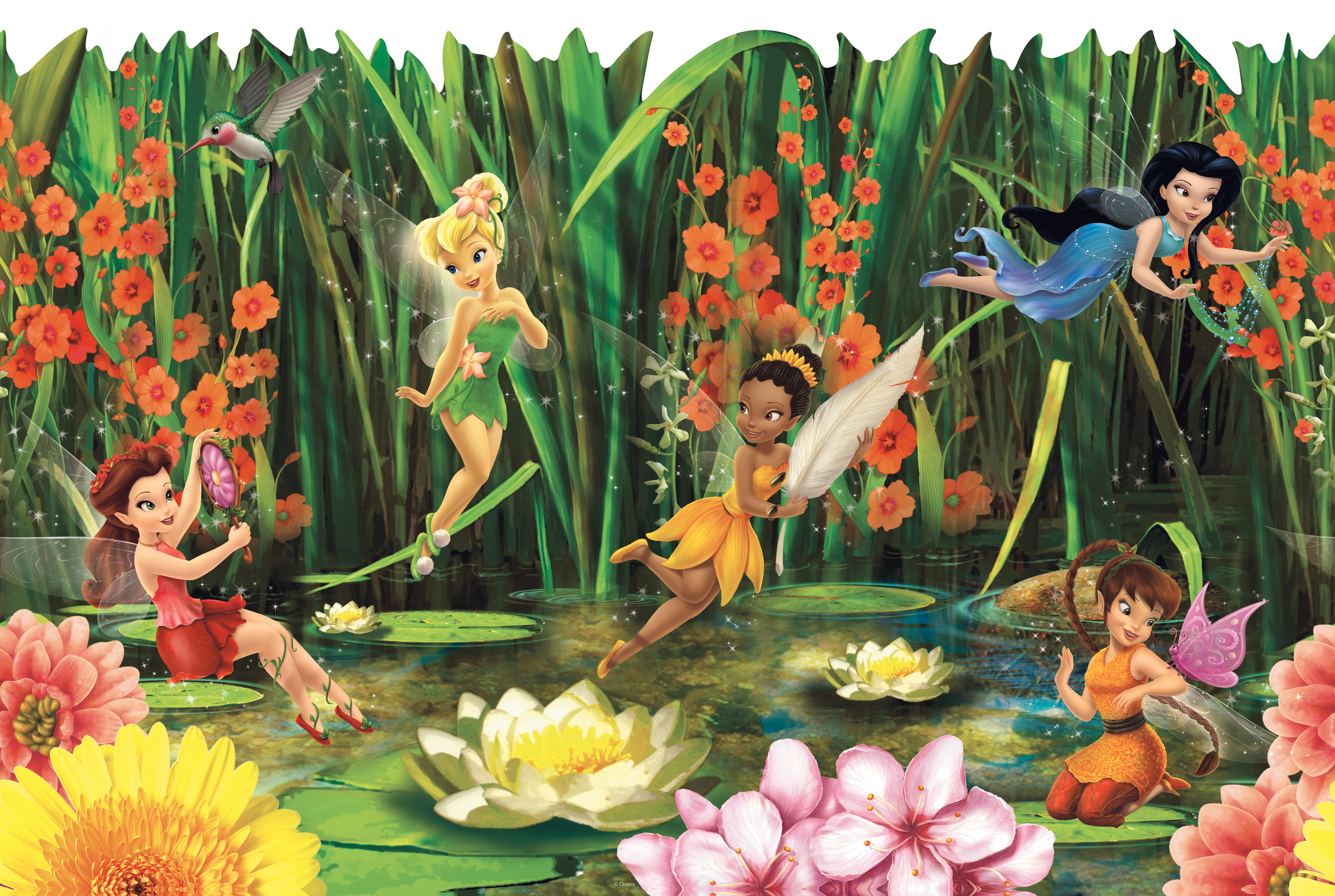 Bambini disney ~ Disney fairies fairies and lilly pads wall border interior