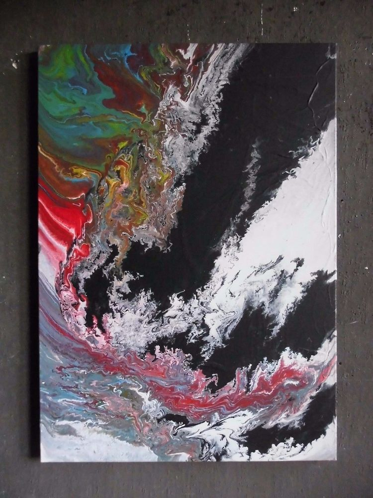 Bild Abstrakt Acryl Bilder Modern Gemälde Kunst Original Deko Wandbild