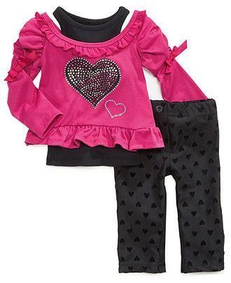 Nannette Baby Girls' 3-Piece Tank, Long-Sleeve Top & Pants Set - Kids Baby Girl (0-24 months) - Macy's