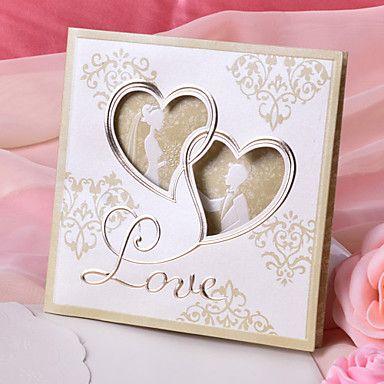 Hochzeitseinladung Braut und Bräutigam Design (Satz 50) – EUR € 29.99