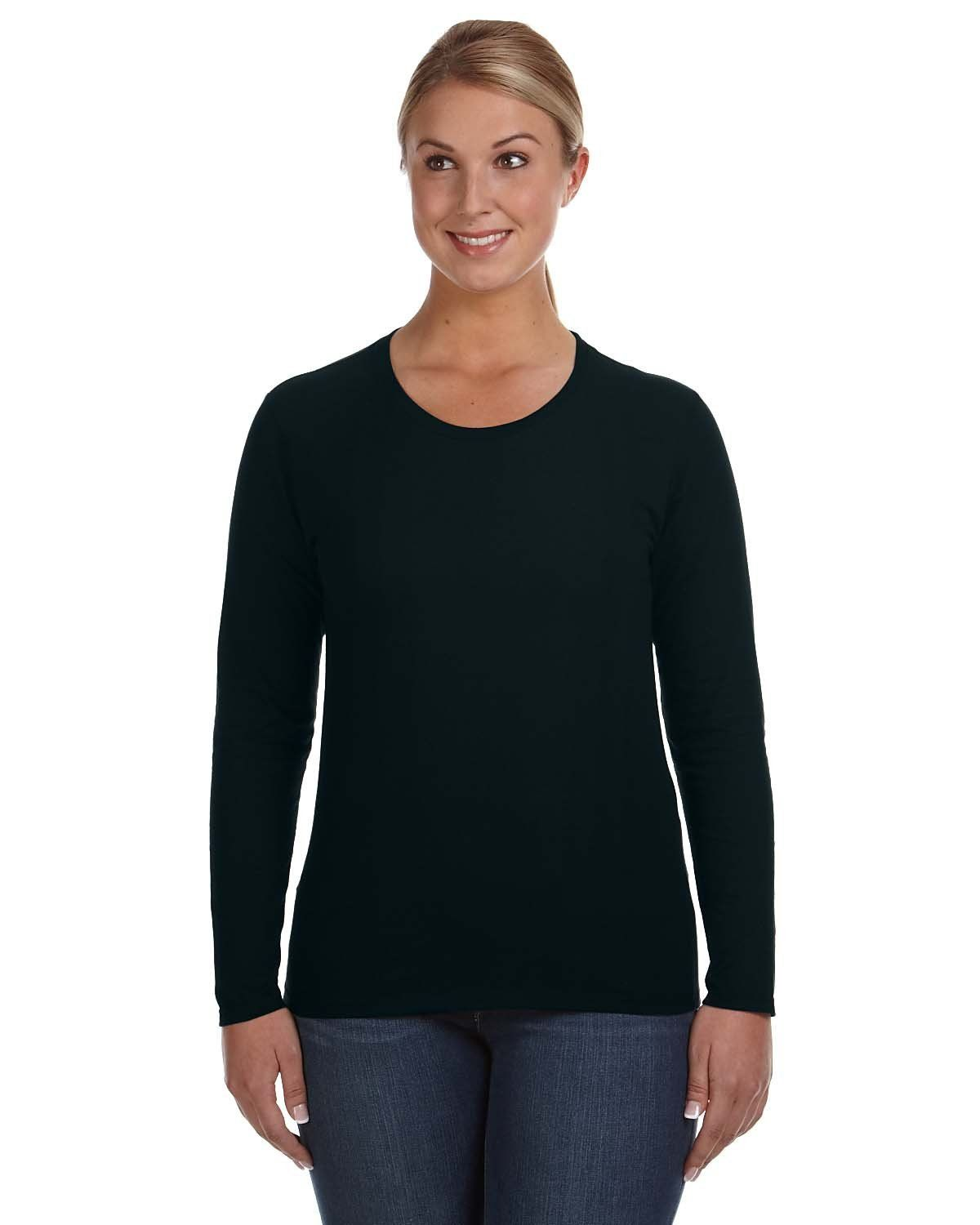 Anvil Lightweight Long Sleeve T Shirt 884l Black In 2018 Products