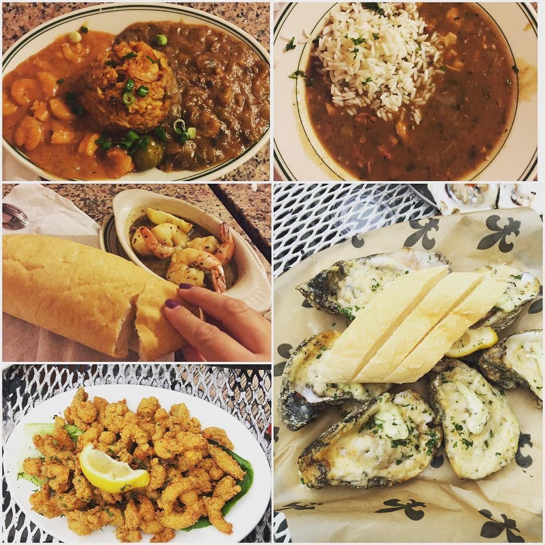 The most delish Nola food with @joelinh #joeysbirthdayadventures2016 #gumbo #jambalaya #crawfishetouffee #grilledshrimp #bakedoysters #friedcrawfish #foodporn #instafood #nola #frenchquarter #foodgalore #stuffed by mrsa2