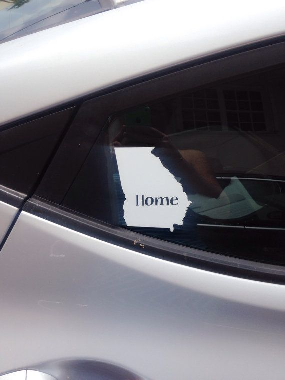 Personalized Home State Window Cling Decal by RedandthePug on Etsy