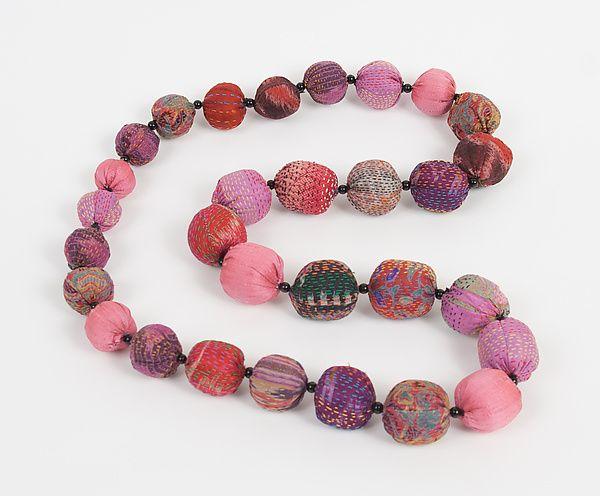Necklace, silk