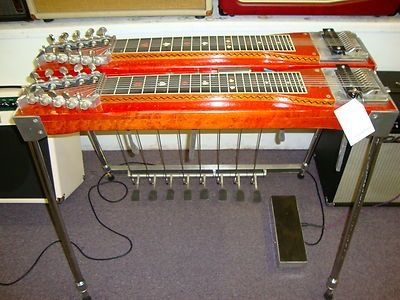 Sho Bud The Professional Double Neck Pedal Steel Guitar Red Maple Ebay Pedal Steel Guitar Steel Guitar Lap Steel Guitar