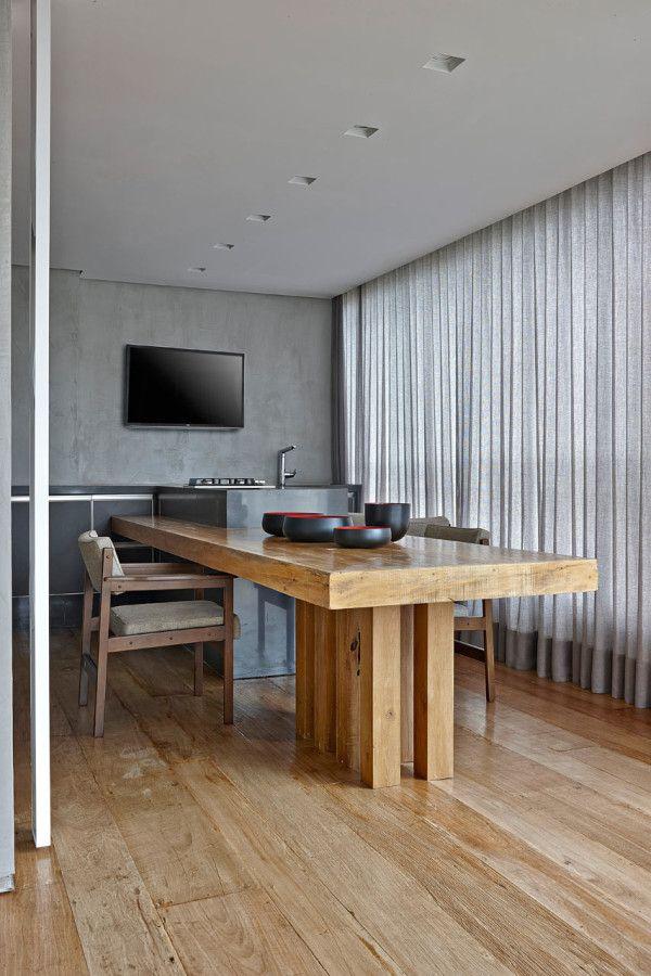 Sleek, Warm Interior: Apartment LA by David Guerra in interior design architecture  Category