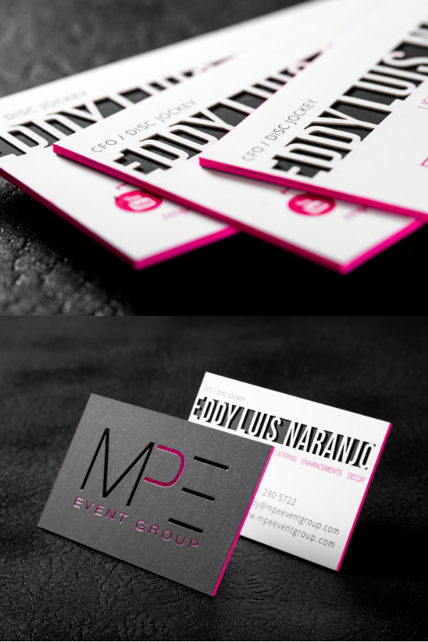 Triple Layered Professional Business Card Thick Business Cards Colored Edge Business Cards Plastic Business Cards