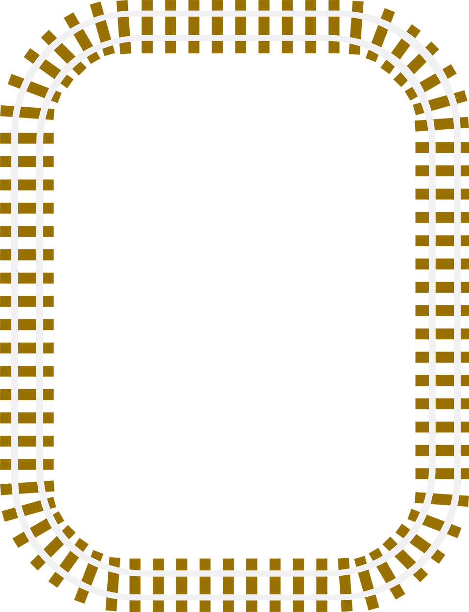 Illustration Of A Blank Railroad Track Frame Border Free