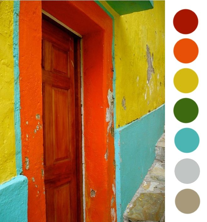 Projet Color Theory Mexican Rainbow Mexican Colors House