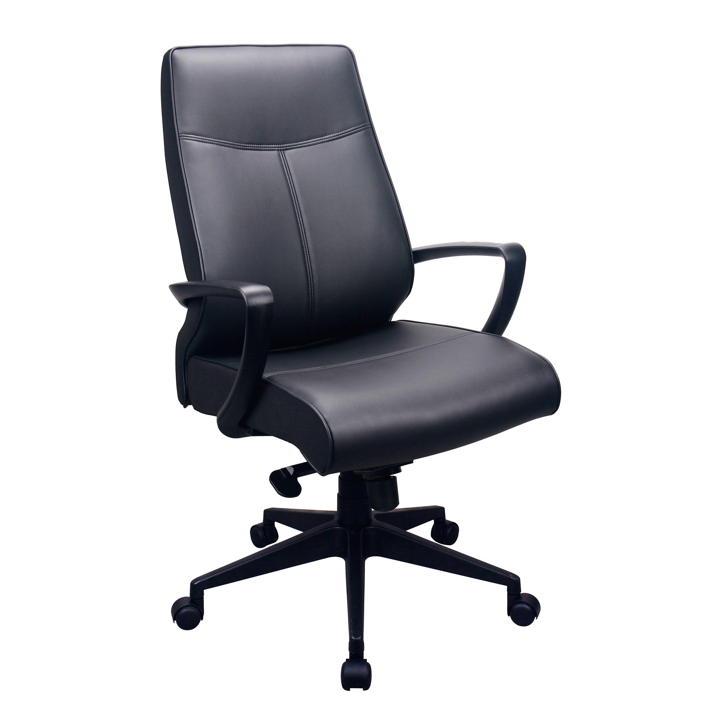 Eurotech Seating Tempurpedic Black Leather High Back Ergonomic