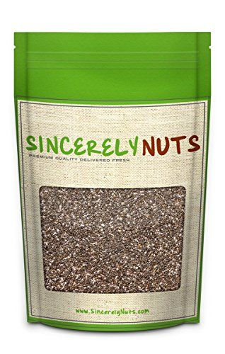 Sincerely Nuts Black Chia Seeds - Five (5) lbs Bag - Ultimate Superfood - Reduces Fat - Essential Vitamins, Proteins