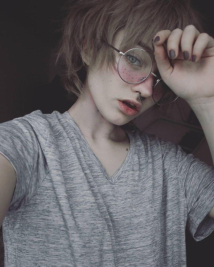 pin by ɑʏօҡօ on cutee pinterest androgynous septum and tomboy