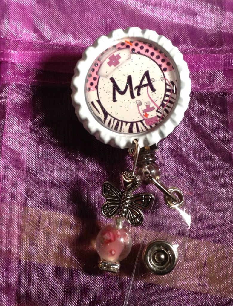 Ma Medical Assistant Id Badge Holder Reel By Mylasfancyhairbows