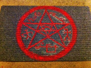Devil S Trap Doormat From Supernatural