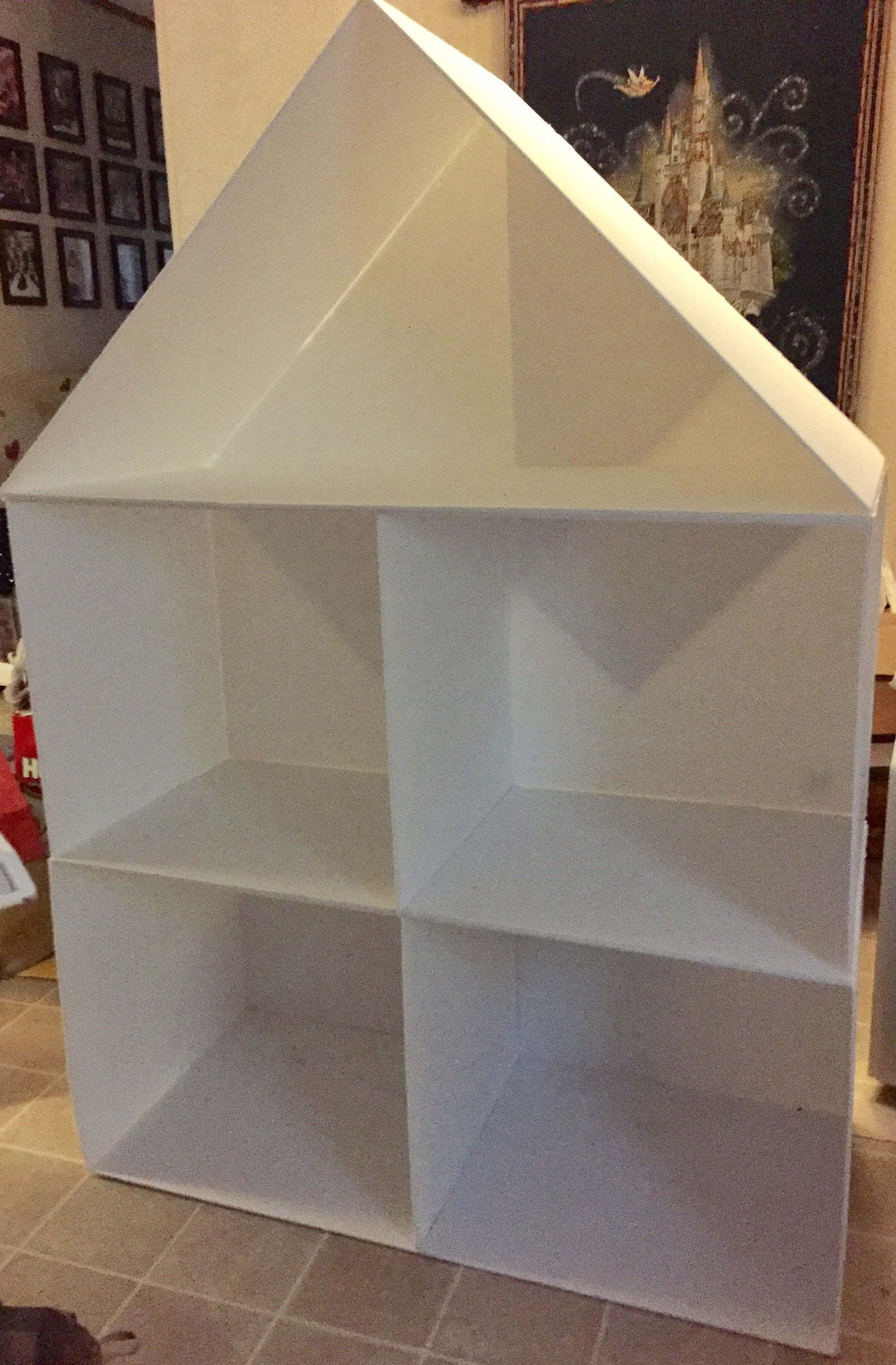 18 Inch Dollhouse Made From Dollar Tree