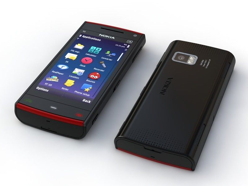 Nokia X6 Phone 3d Model 3d Model Phone Free Government Phone