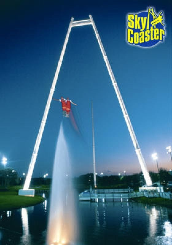 Kissimmee Florida Tallest Skycoaster In The World 300 Ft Tall Kissimmee Kissimmee Florida Florida