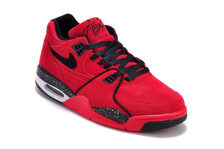 pretty nice 176c3 908c9 Nike Air Flight 89 Squad Red Suede 306252-600 Gym Red Black-White03