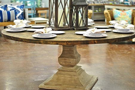 72 Round Reclaimed Cypress Dining Table We Custom Build