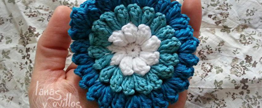 Pop corn crochet flower free pattern patrón gratis | Proyectos de ...