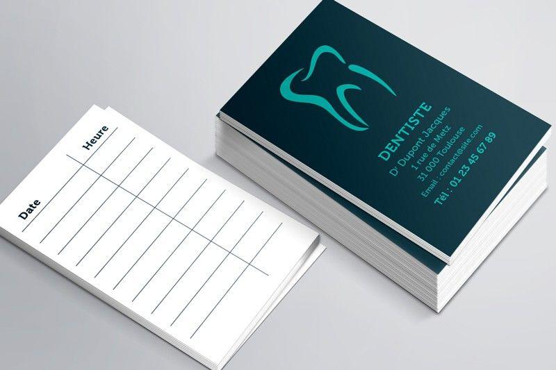Carte De Rdv Simples N 7 Pour Dentiste Dentiste Carte D Affaire Design De Cabinet Dentaire