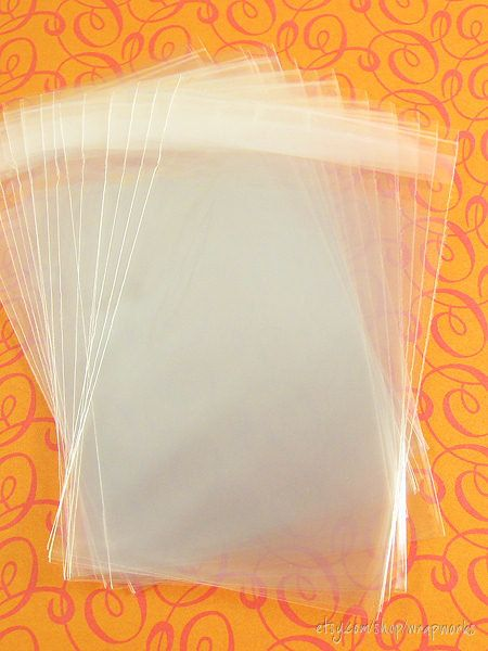 300 275 x 375 Clear Cello Resealable Plastic Bags for door wrapworks, $8,50