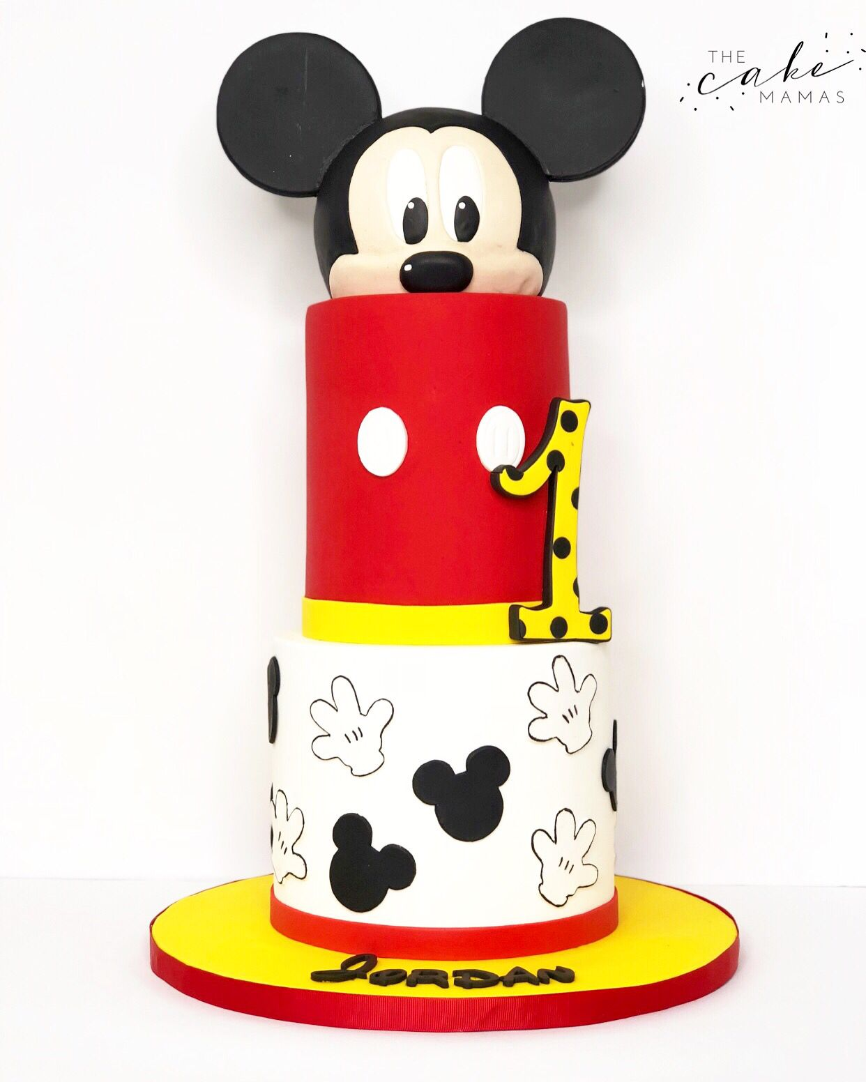 Super Mickey Mouse 1St Birthday Cake Call Or Email To Order Your Mickey Personalised Birthday Cards Veneteletsinfo