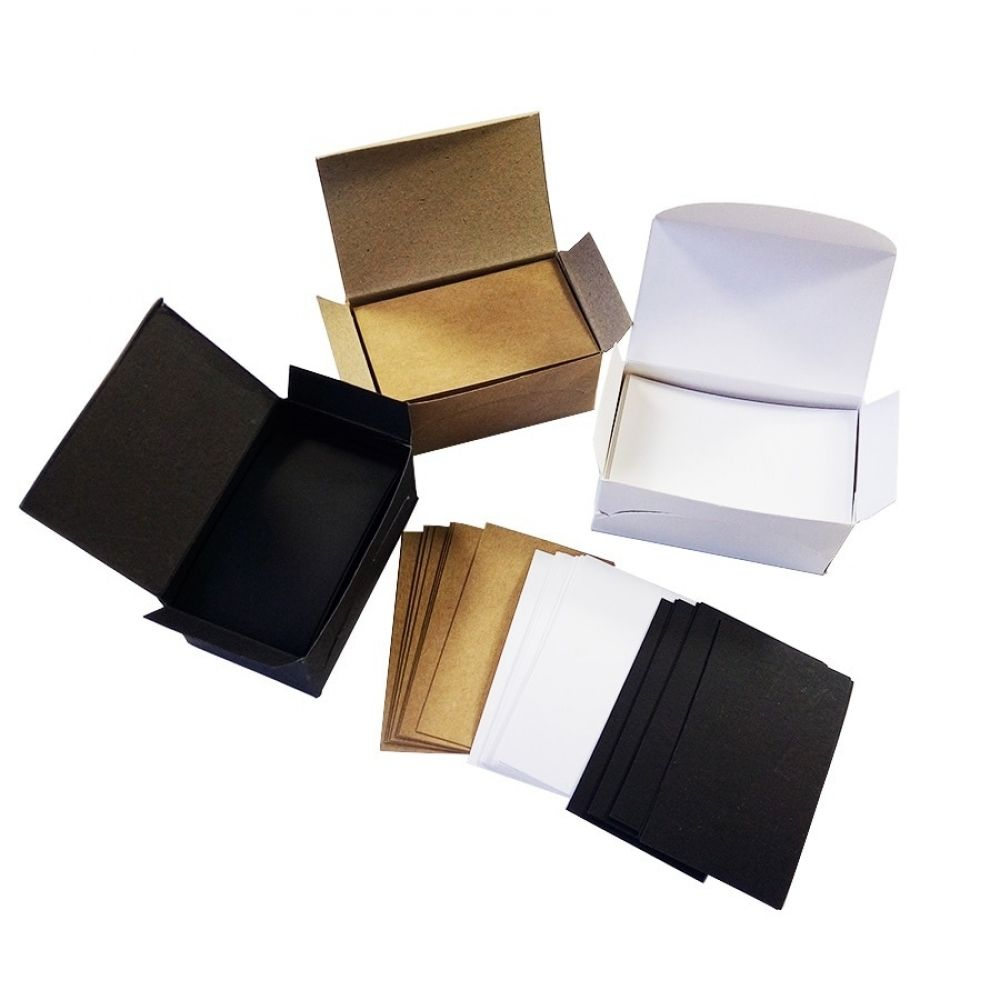 100 Pcs Lot White Black Kraft Paper Card Message Memo Wedding