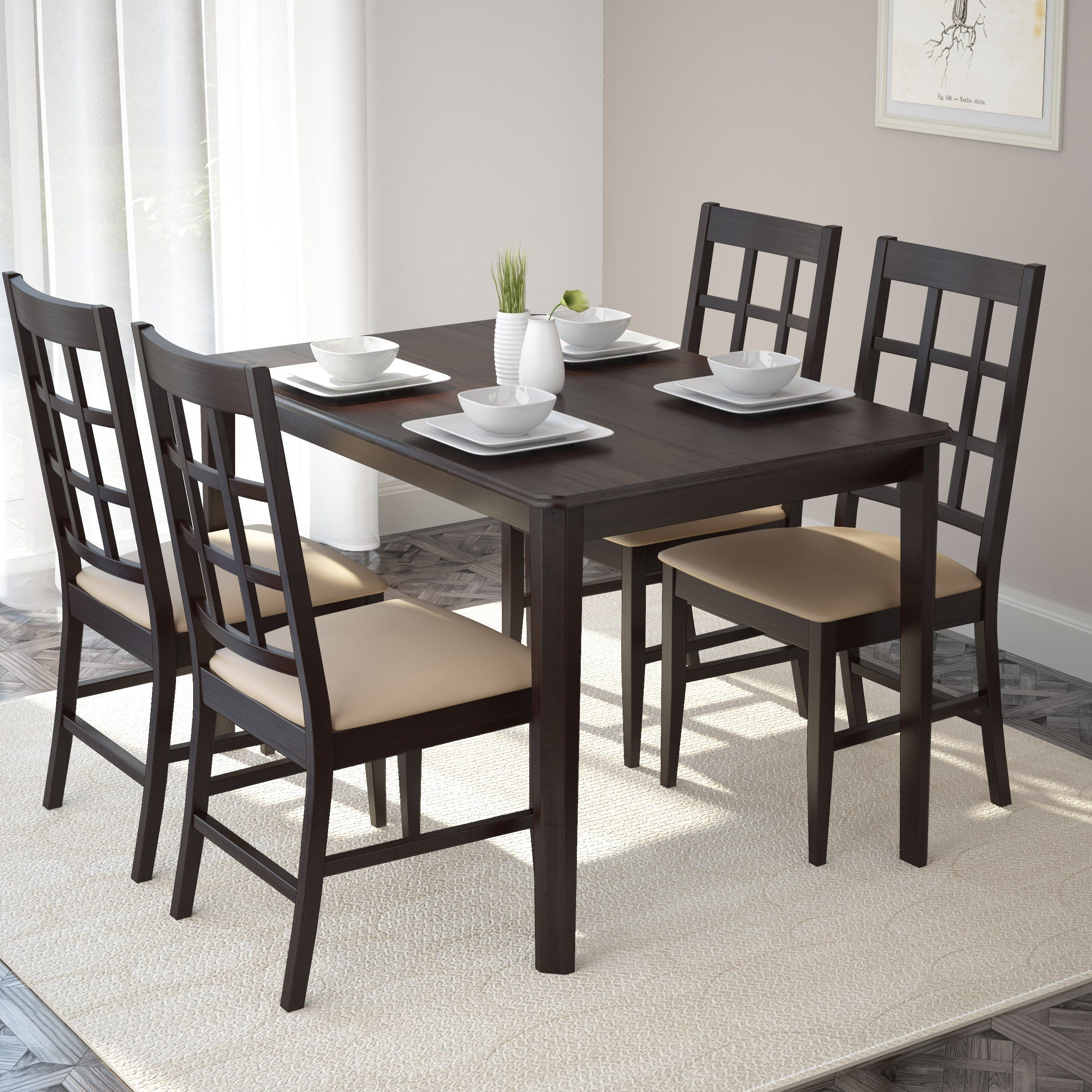 corliving drg 795 t atwood wide stained dining table