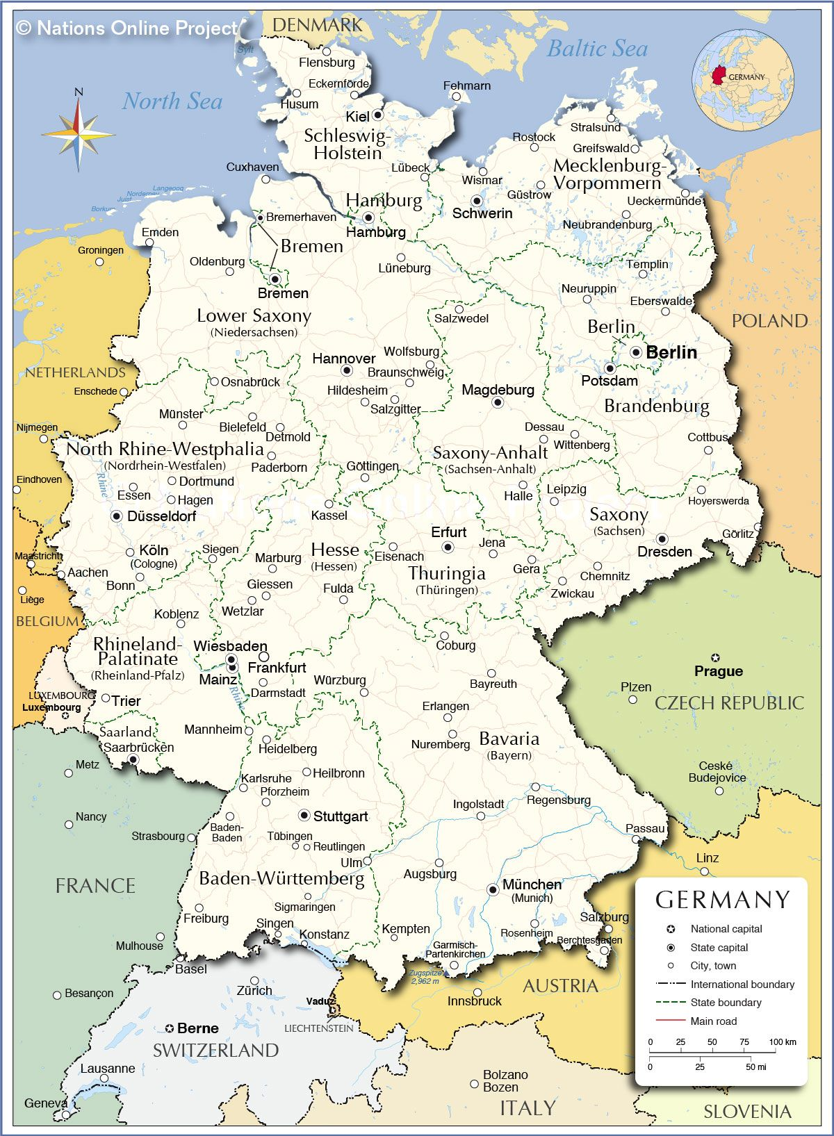 Map Of Deutschland Germany.Administrative Map Of Germany Germany Pinterest Printable Maps