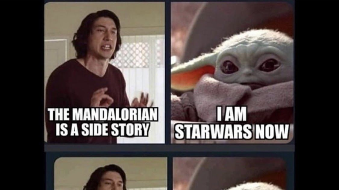Does Baby Yoda Own Star Wars Album On Imgur Kylo Ren Just Mad Baby Yoda Getting All The Clout R The Mandalorian Is Kylo Ren Meme Yoda Meme Star Wars Memes