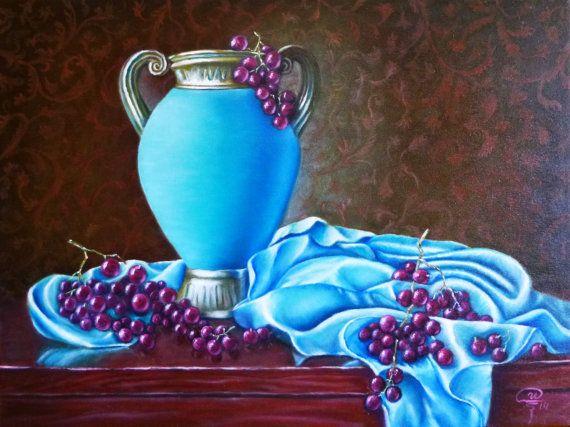 ORIGINAL Oil Painting  Luxurious painting Still by IrynaArtGallery