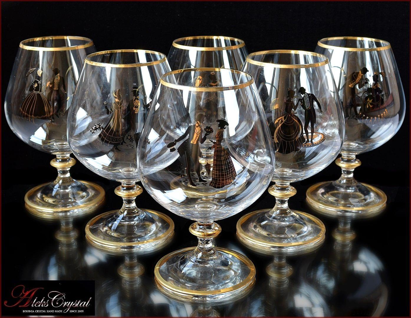 Aleks Crystal Com Bohemia Crystal Brandy Glasses Crystal Glassware Crystal Stemware Bohemia Glass